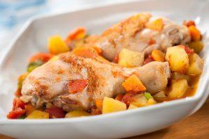 estofado de pollo con papas receta