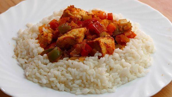 arroz blanco con pollo receta